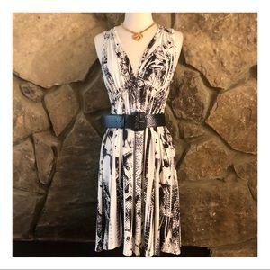 Abstract Print Dress by Live & Let Live, B/W, M